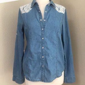Light Weight Denim Lace Flannel